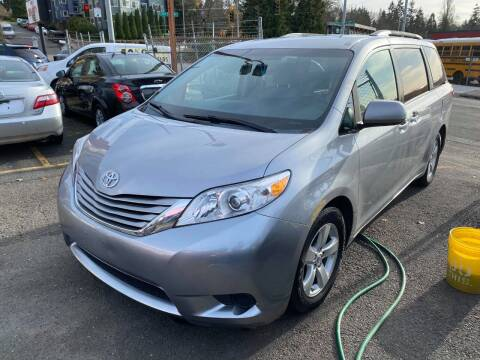 2015 Toyota Sienna for sale at SNS AUTO SALES in Seattle WA