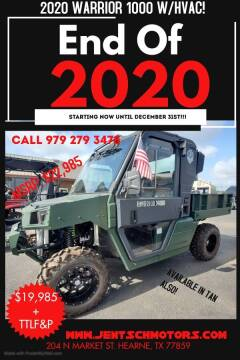 2020 Warrior Max 1000 Bennche for sale at JENTSCH MOTORS in Hearne TX