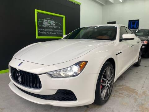 2016 Maserati Ghibli for sale at GCR MOTORSPORTS in Hollywood FL
