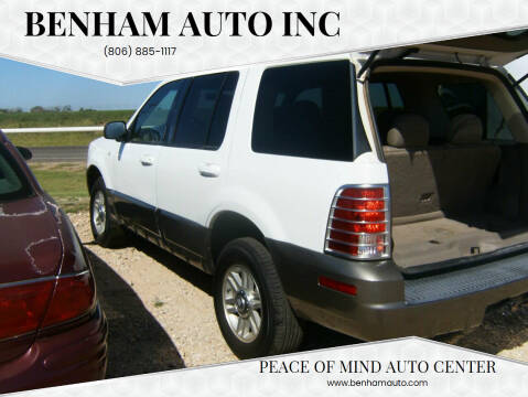 2003 Mercury Mountaineer for sale at BENHAM AUTO INC in Lubbock TX