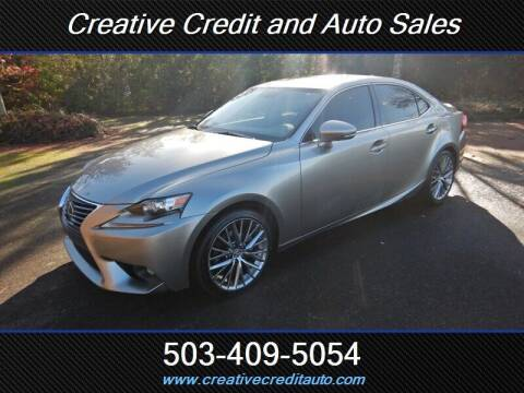 2015 Lexus IS 250 for sale at Creative Credit & Auto Sales in Salem OR