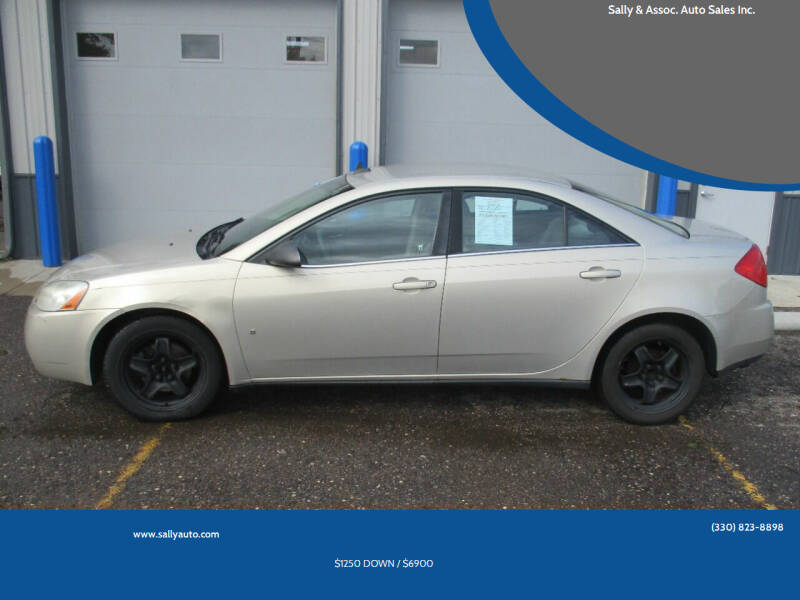 2009 Pontiac G6 for sale at Sally & Assoc. Auto Sales Inc. in Alliance OH