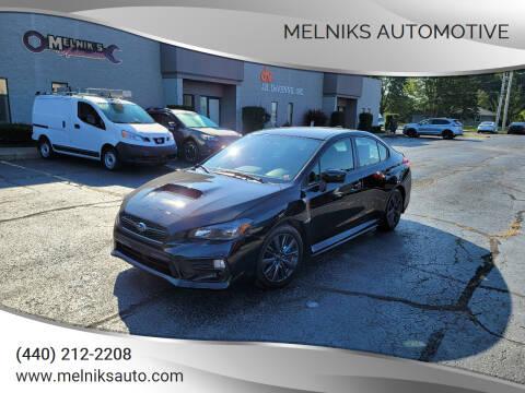 2019 Subaru WRX for sale at Melniks Automotive in Berea OH
