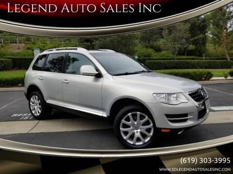 2009 Volkswagen Touareg 2 for sale at Legend Auto Sales Inc in Lemon Grove CA
