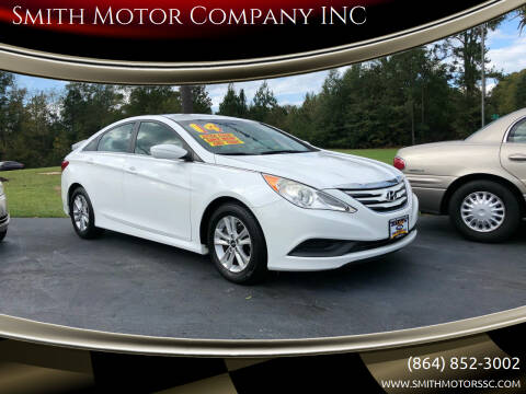 2014 Hyundai Sonata for sale at Smith Motor Company INC in Mc Cormick SC