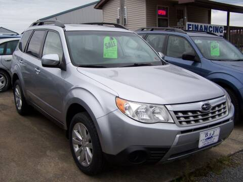2012 Subaru Forester for sale at B & J Auto Sales in Tunnelton WV