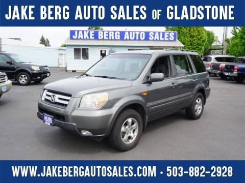 2007 Honda Pilot for sale at Jake Berg Auto Sales in Gladstone OR