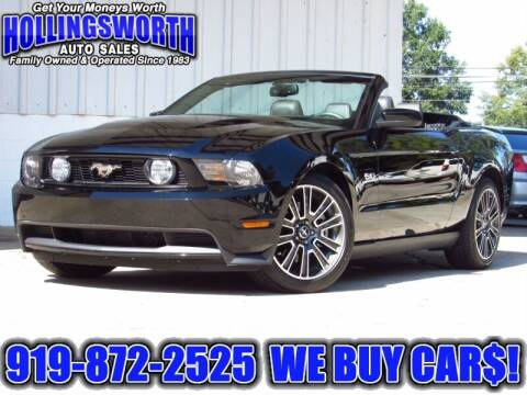 2012 Ford Mustang for sale at Hollingsworth Auto Sales in Raleigh NC