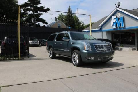 2008 Cadillac Escalade ESV for sale at F & M AUTO SALES in Detroit MI