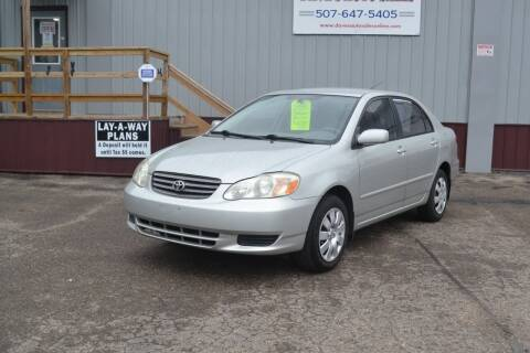 2003 Toyota Corolla for sale at Dave's Auto Sales in Winthrop MN