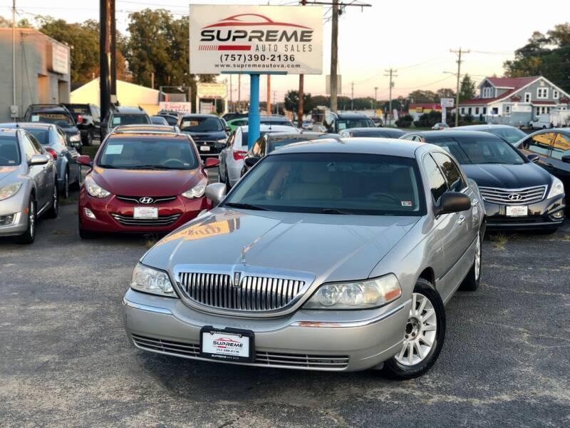 2006 Lincoln Town Car for sale at Supreme Auto Sales in Chesapeake VA