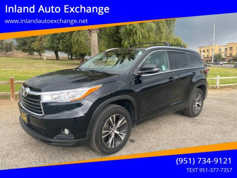 2016 Toyota Highlander for sale at Inland Auto Exchange in Norco CA