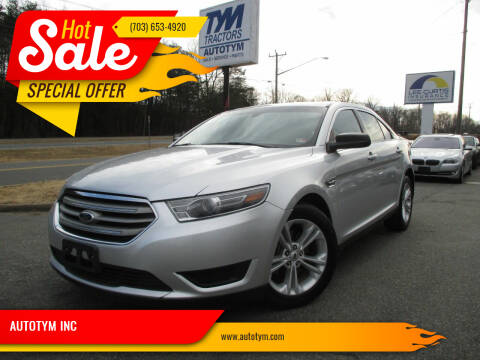 2015 Ford Taurus for sale at AUTOTYM INC in Fredericksburg VA