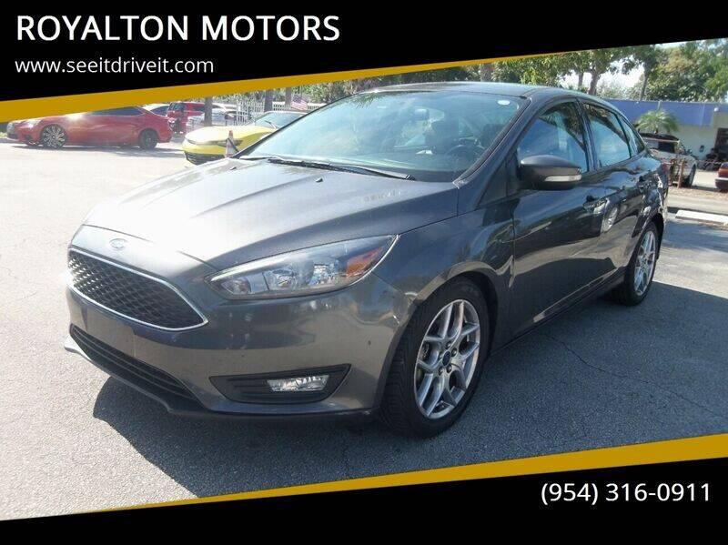 2015 Ford Focus for sale at ROYALTON MOTORS in Plantation FL