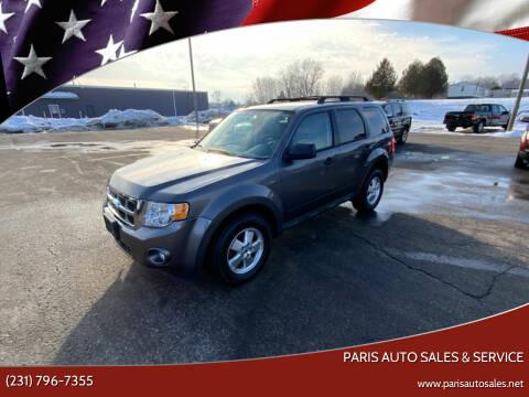 2012 Ford Escape for sale at Paris Auto Sales & Service in Big Rapids MI