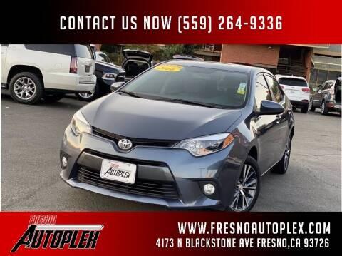 2016 Toyota Corolla for sale at Fresno Autoplex in Fresno CA