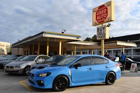 2016 Subaru WRX for sale at Houston Used Auto Sales in Houston TX