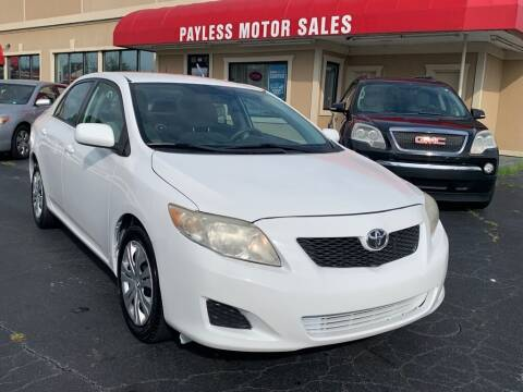 2009 Toyota Corolla for sale at Payless Motor Sales LLC in Burlington NC