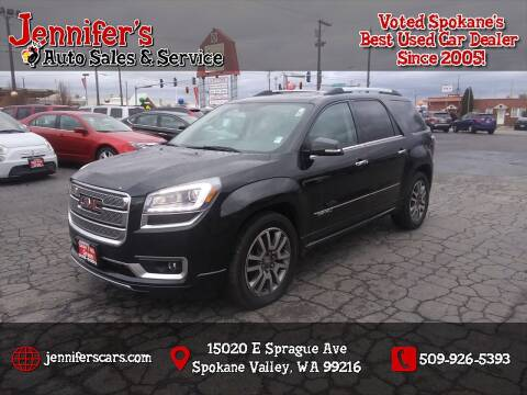 2013 GMC Acadia for sale at Jennifer's Auto Sales in Spokane Valley WA