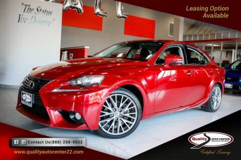 2014 Lexus IS 250 for sale at Quality Auto Center of Springfield in Springfield NJ