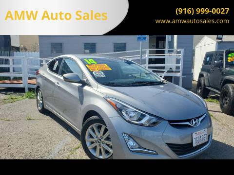 2014 Hyundai Elantra for sale at AMW Auto Sales in Sacramento CA