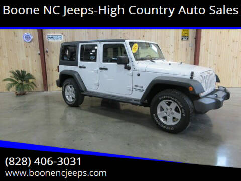 2011 Jeep Wrangler Unlimited for sale at Boone NC Jeeps-High Country Auto Sales in Boone NC
