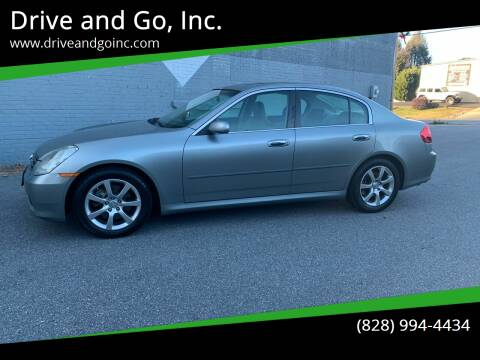 2005 Infiniti G35 for sale at Drive and Go, Inc. in Hickory NC