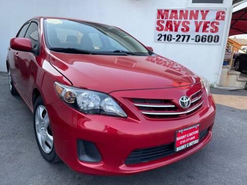 2013 Toyota Corolla for sale at Manny G Motors in San Antonio TX