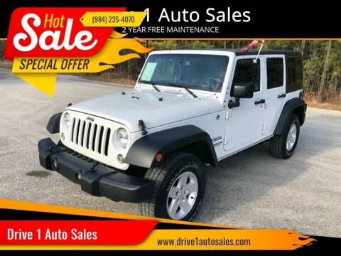 2014 Jeep Wrangler Unlimited for sale at Drive 1 Auto Sales in Wake Forest NC