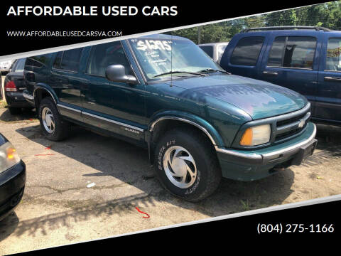 1997 Chevrolet Blazer for sale at AFFORDABLE USED CARS in Richmond VA