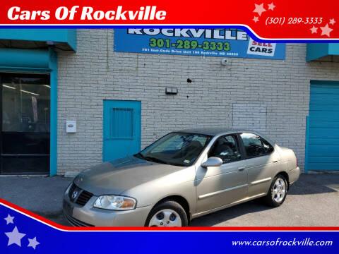 2005 Nissan Sentra for sale at Cars Of Rockville in Rockville MD