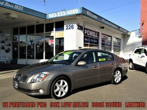 2006 Nissan Maxima for sale at Powell Motors Inc in Portland OR