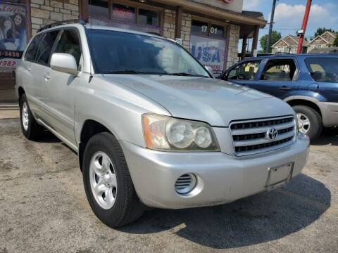 2003 Toyota Highlander for sale at USA Auto Brokers in Houston TX
