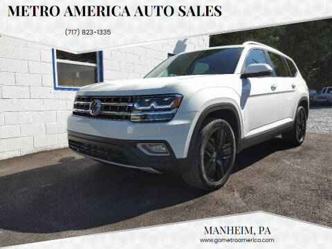 2018 Volkswagen Atlas for sale at METRO AMERICA AUTO SALES of Manheim in Manheim PA