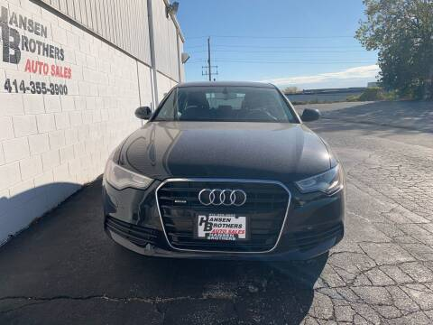 2012 Audi A6 for sale at HANSEN BROTHERS AUTO SALES in Milwaukee WI
