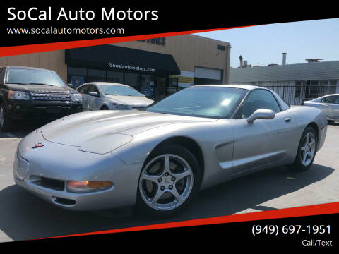 2004 Chevrolet Corvette for sale at SoCal Auto Motors in Costa Mesa CA