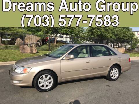 2004 Toyota Avalon for sale at Dreams Auto Group LLC in Sterling VA