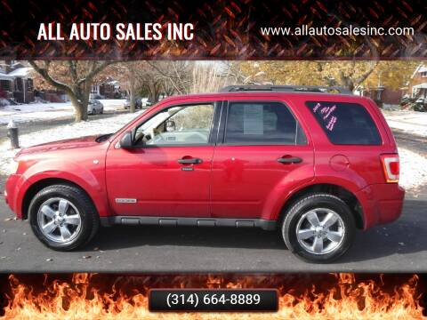 2008 Ford Escape for sale at ALL Auto Sales Inc in Saint Louis MO