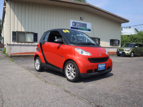 2008 Smart fortwo for sale at Crestwood Auto Sales in Swansea MA