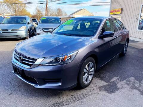 2014 Honda Accord for sale at Dijie Auto Sale and Service Co. in Johnston RI