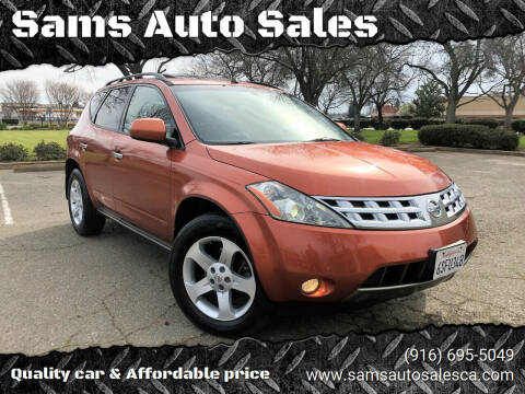 2003 Nissan Murano for sale at Sams Auto Sales in North Highlands CA
