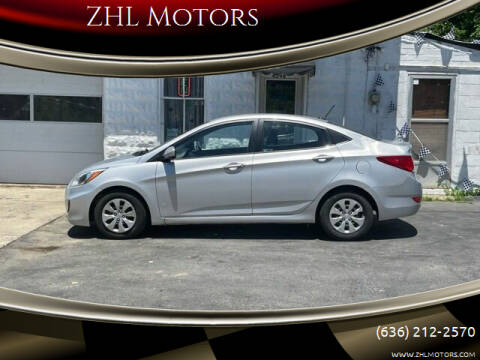 2015 Hyundai Accent for sale at ZHL Motors in House Springs MO