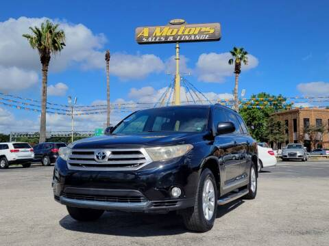 2013 Toyota Highlander for sale at A MOTORS SALES AND FINANCE in San Antonio TX