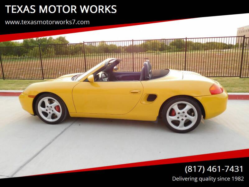 2000 Porsche Boxster for sale at TEXAS MOTOR WORKS in Arlington TX