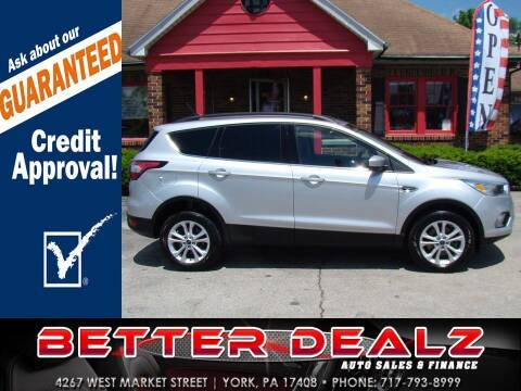 2018 Ford Escape for sale at Better Dealz Auto Sales & Finance in York PA