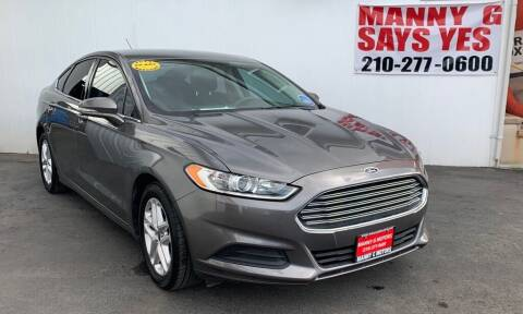 2014 Ford Fusion for sale at Manny G Motors in San Antonio TX