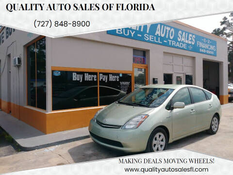 2007 Toyota Prius for sale at QUALITY AUTO SALES OF FLORIDA in New Port Richey FL
