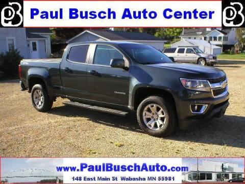 2018 Chevrolet Colorado for sale at Paul Busch Auto Center Inc in Wabasha MN