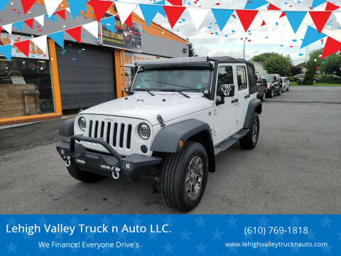 2014 Jeep Wrangler Unlimited for sale at Lehigh Valley Truck n Auto LLC. in Schnecksville PA