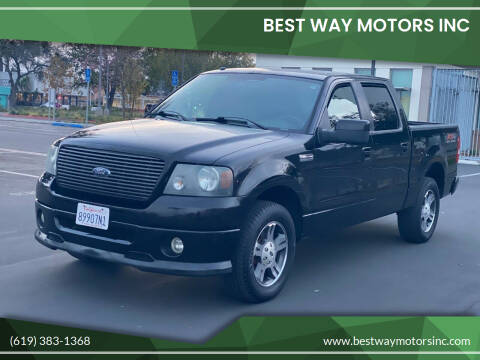 2007 Ford F-150 for sale at BEST WAY MOTORS INC in San Diego CA
